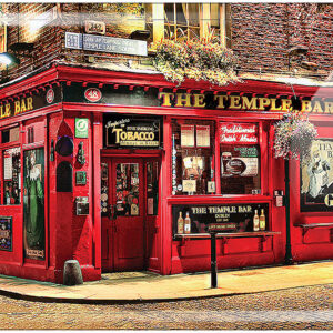 The Temple Bar Embossed Metal Sign