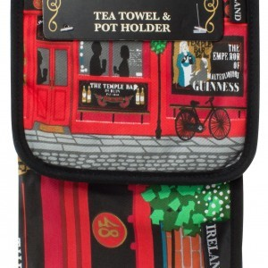The Temple Bar Tea Towel and Pot Holder