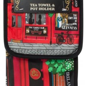 The Temple Bar Tea Towel and Pot Holder
