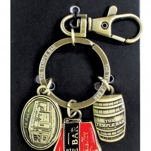 The Temple Bar Whiskey Charm Keyring