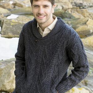 Mens Shawl Collar Sweater