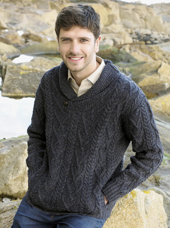 Fisherman Knit Sweater Womens