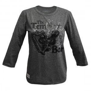 Temple Bar Music On Long Sleeve Charcoal T-Shirt