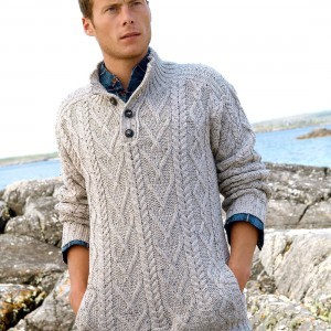 Traditional Patern Three Button Jumper