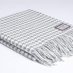 Aqua Houndstooth Blanket