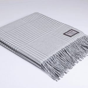 Aqua Glen Check Blanket