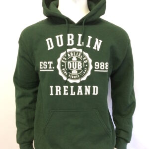 Dublin Stamp Hoodie | Bottle Green