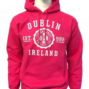Dublin Stamp Hoodie | Hot Pink
