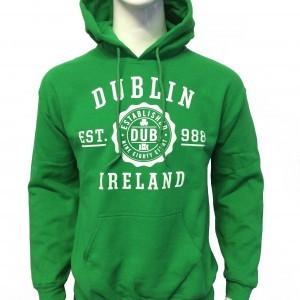 Dublin Stamp Hoodie | Kelly Green