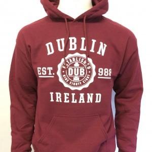 Dublin Stamp Hoodie | Maroon
