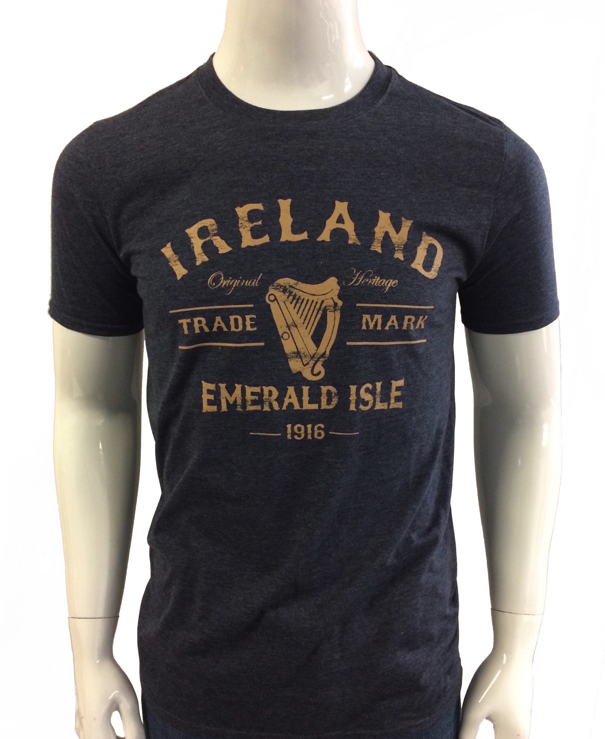 Ireland Harp T-Shirt Navy