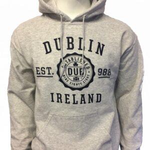 Dublin Stamp Hoodie | Ash Grey