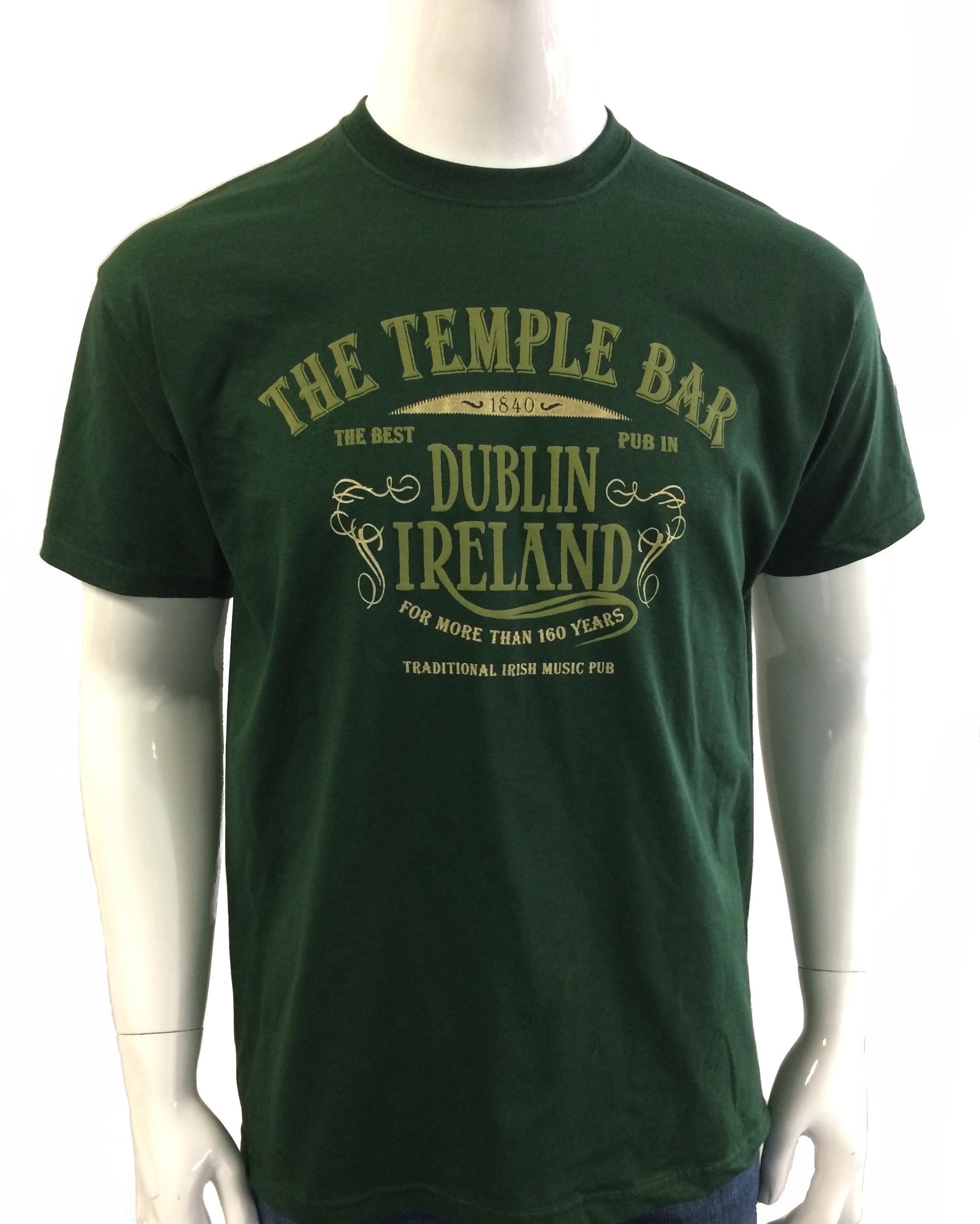 Irish Pub T Shirt Green