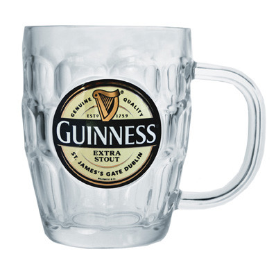 Guinness Label Dimple Tankard