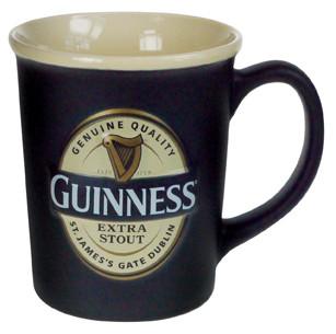 Guinness Traditional Label Embossed Mug