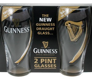 Guinness Two Pack Embossed Pint Glasses