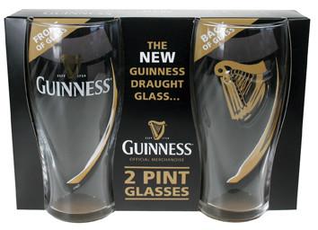 Guinness Two Pack Embossed Pint Glasses