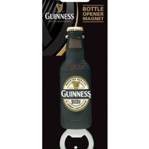 Guinness Label Bottle Opener Magnet