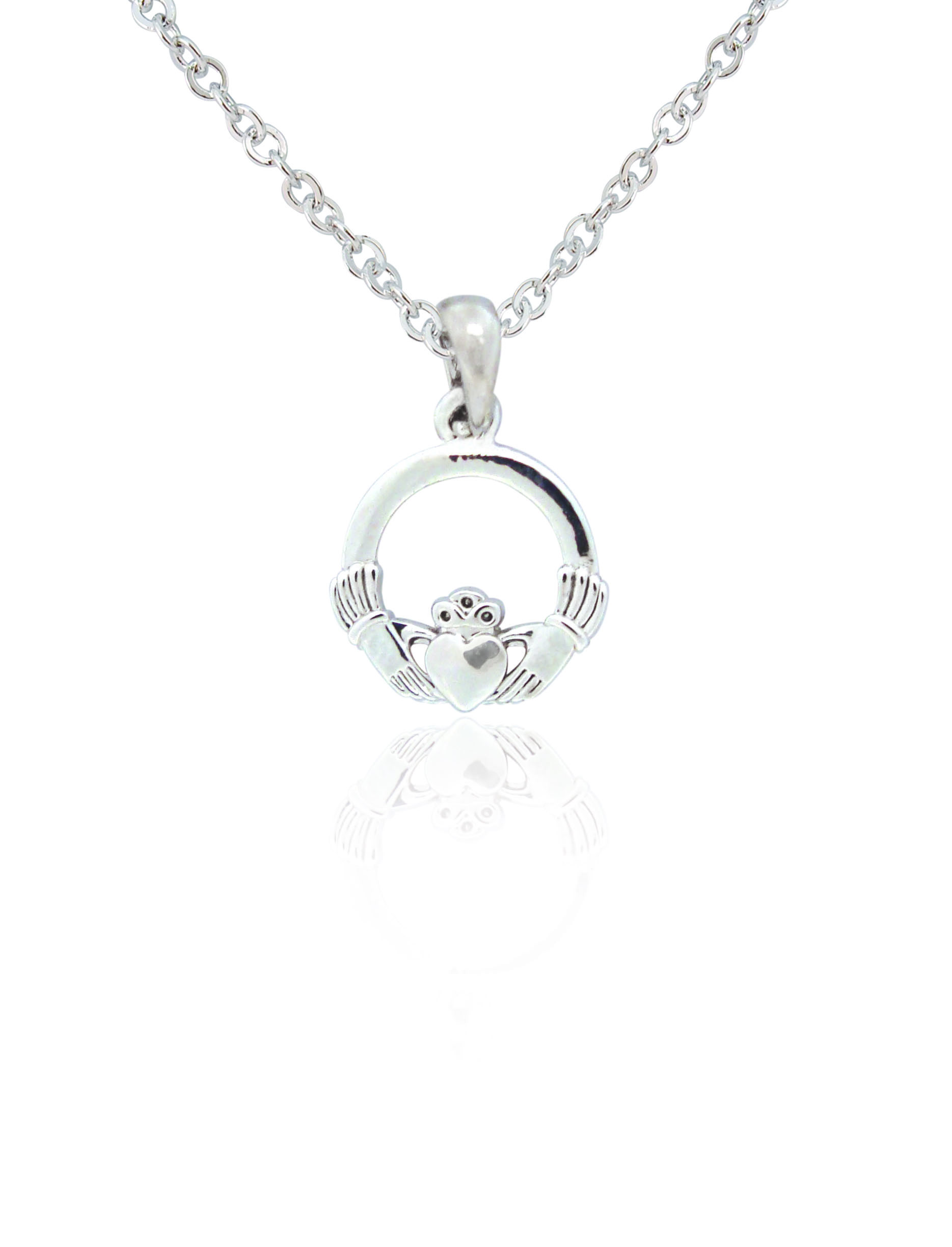 Silver plated claddagh pendant irish jewellery silver plated claddagh pendant 79205 aloadofball Image collections