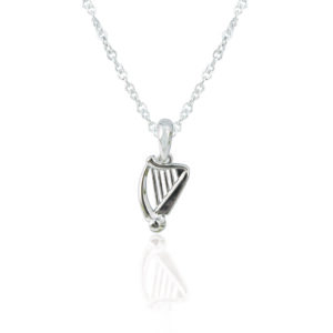 Silver Plated Harp Pendant