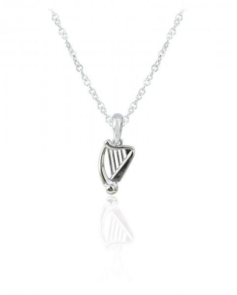 Silver Plated Harp Pendant 79212