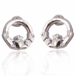 Silver Plated Claddagh Earrings