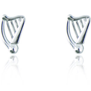 Silver Plated Harp Earrings