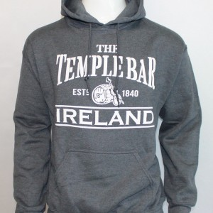 Temple Bar Barrel Hoodie | Heather Grey