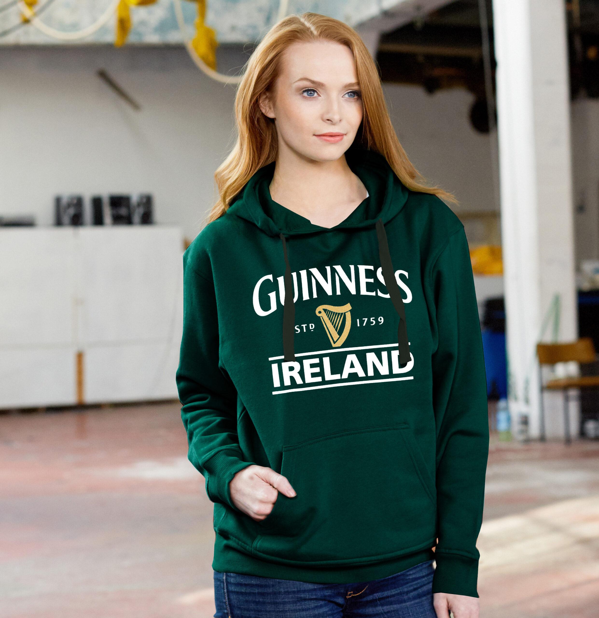 Guinness Harp Hoodie | Bottle Green