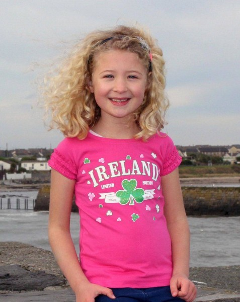 Girls-Frilly-Pink-Limited-Edition-Ireland-T-Shirt