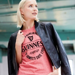Guinness Stamp Ladies Tee Shirt | Red