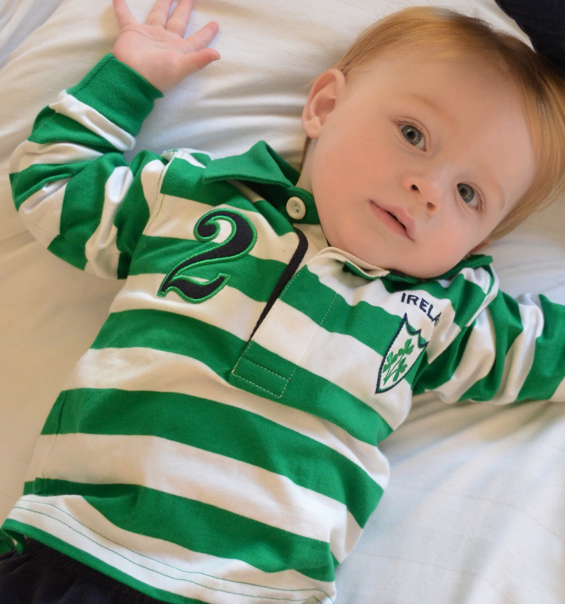 Baby ireland rugby jersey green white ireland jerseys for Irish jewelry stores in nj