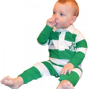 Baby Ireland Romper | Green/White