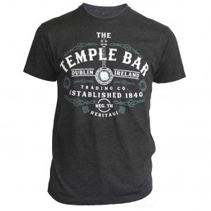 Temple Bar Banjo T-Shirt   Charcoal