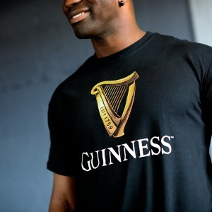 Guinness Gold Harp Tee Shirt | Black