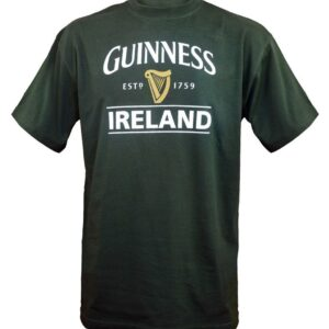 Guinness Ireland Harp Tee Shirt | Bottle Green