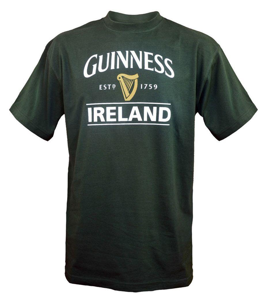 Guinness Ireland Harp Tee Shirt | Bottle Green - Irelands T-Shirts
