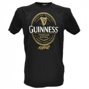 Guinness Label Print Tee Shirt | Black