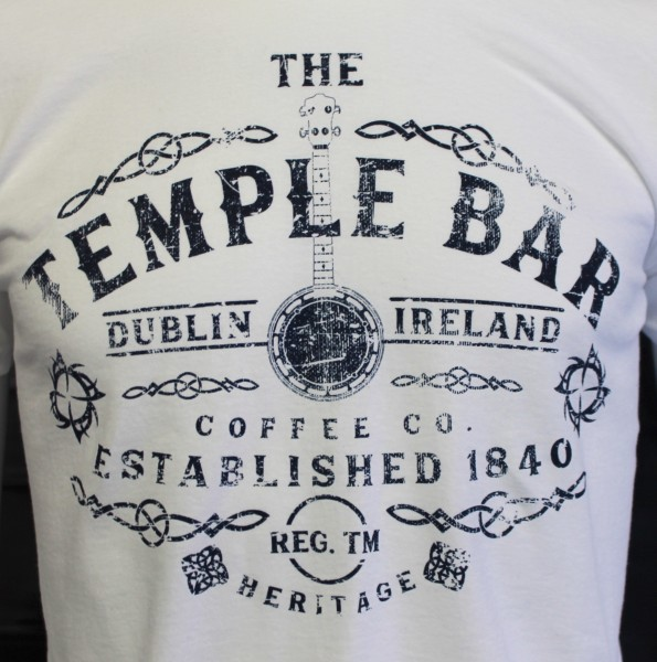 Temple Bar Banjo T-Shirt | White - Front