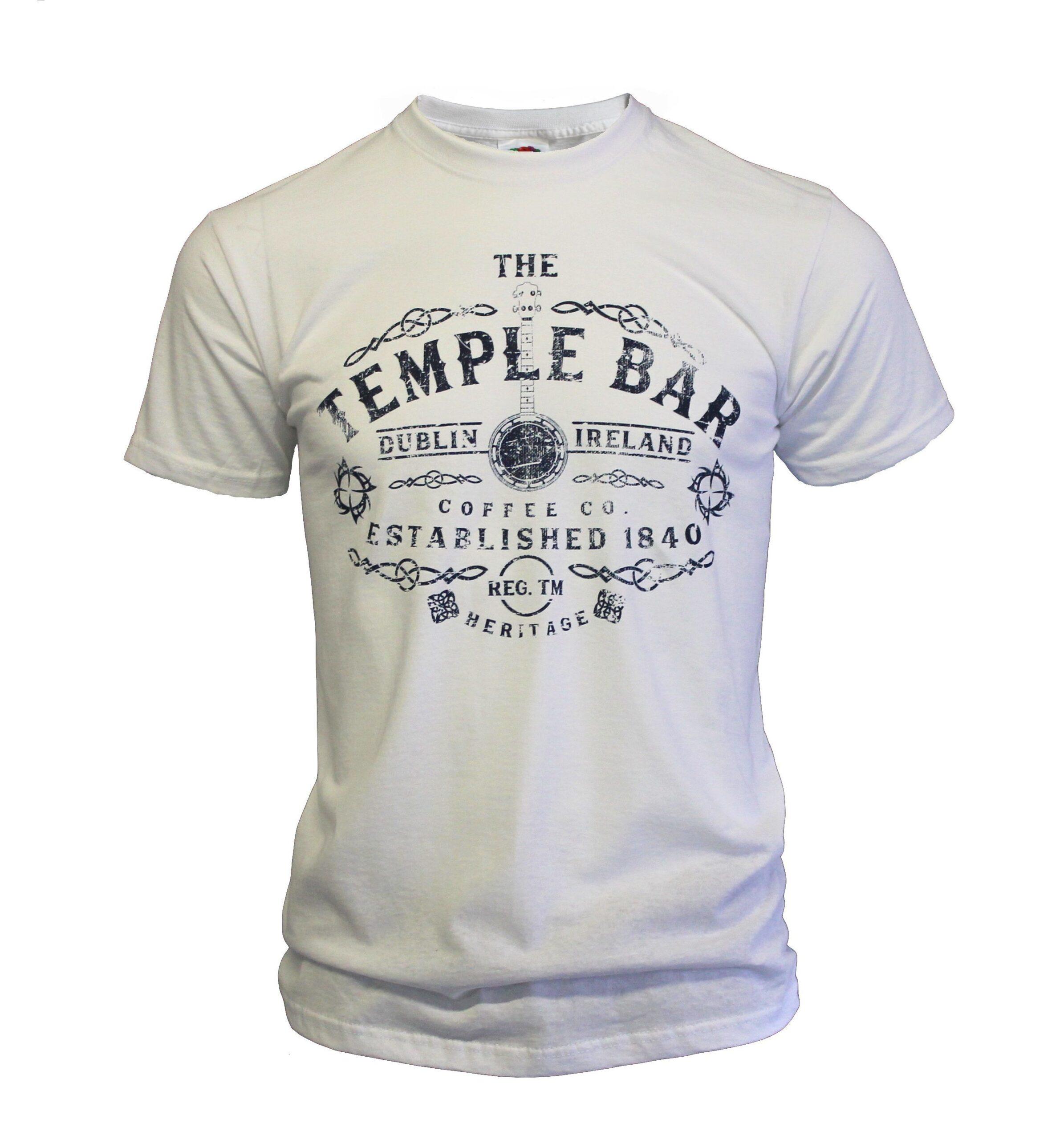 Temple Bar Banjo T-Shirt | White