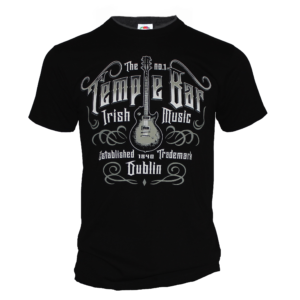 Temple Bar Guitar T-Shirt | Black