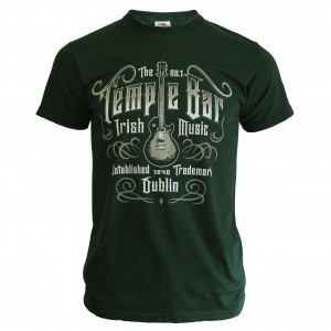 Temple Bar Guitar T-Shirt | Bottle Green