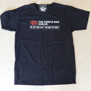 The Temple Bar Coordinates Tee Shirt - Black