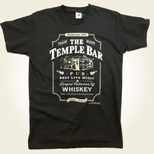 Temple Bar Whiskey TShirt - Black